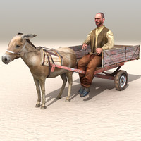 3ds max donkey cart arab afghani