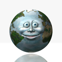 3d earth character model