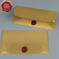 3d model envelope greetings
