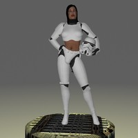 female storm trooper femtrooper 3d model