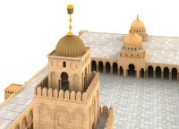 3d mosque great kairouan model