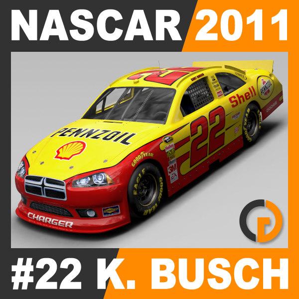 Nascar 2011 Car - Kurt Busch Dodge Charger #22
