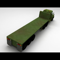 3d model m915a5 truck flatbed
