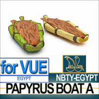 3d ancient egyptian papyrus boat model