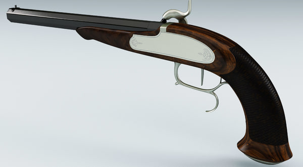 old musket pistol 3d model - Old Musket Pistol... by 3d_molier