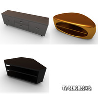 tv tables 3d max