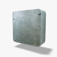 3d small square electrical box model