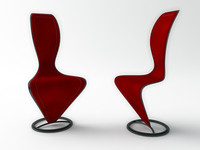 chair cappellini 3d max