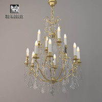 3d model of vaughan cage chandelier