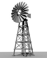 3d old windmill model