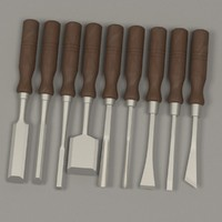 3ds max wood chisel