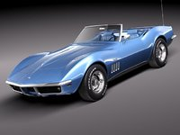 chevrolet corvette c3 1969 3ds