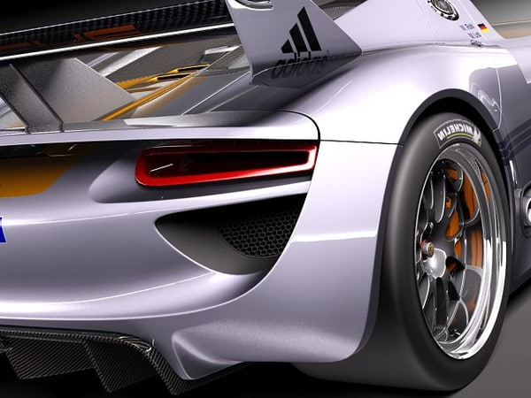 3d porsche 918 spyder carrera - Porsche 918 RSR 2012... by squir