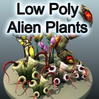 Low Poly Alien Plants