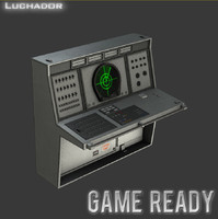 radar console games ready 3d model