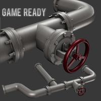 modular pipe set 3d model