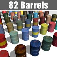 barrels contains 3d model