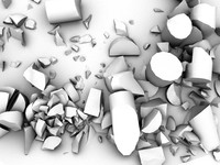 pieces rubble 3d model