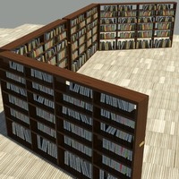 3d standard book shelf model