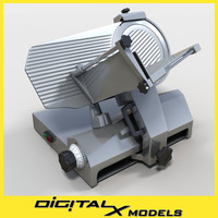 3d model of commercial slicer meat