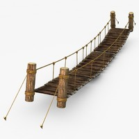 Rope & Wood Plank Suspension Bridge