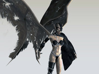succubus female figure character 3d model