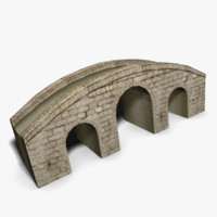 Low Poly Arched Bridge