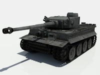 3d model wwii heavy tank tiger
