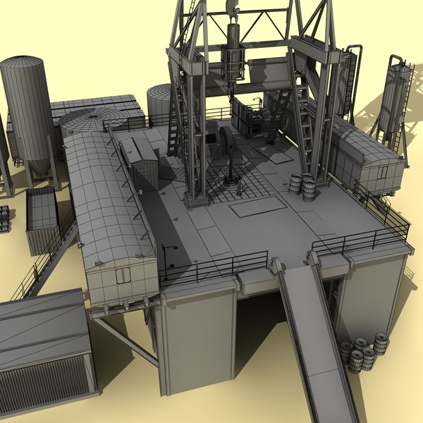 3d drilling rig land based - Drilling Rig - Land Based... by Fresh Pear 3d