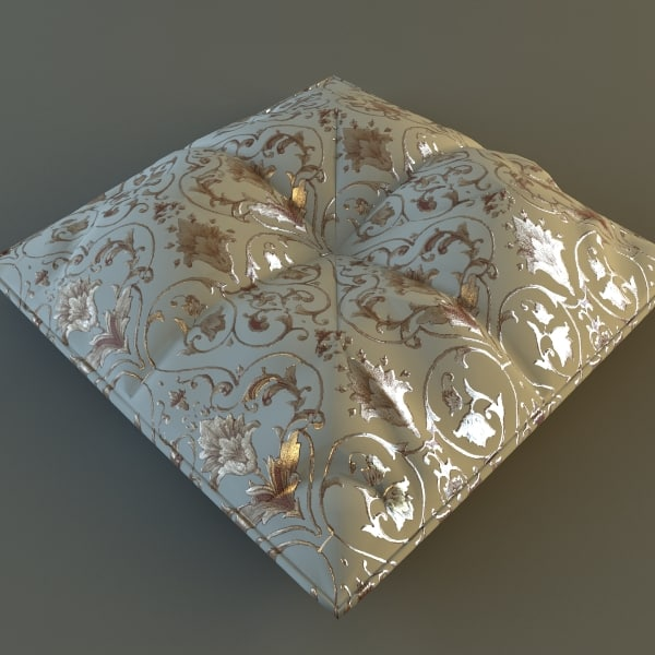 Brocade Pillow Low Poly