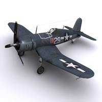 f4u corsair navy fighters 3d model