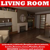 living room 3d max