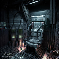3d space shuttle cabin interior