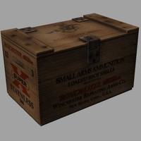 3d model winchester crate