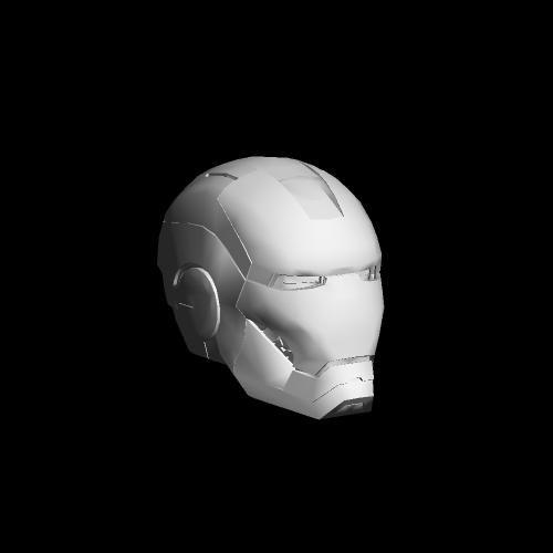 Iron Man Helmet 3d Model Obj Iron Man Helmet