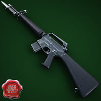 M16A1 Assault Rifle with M7 Bayonet