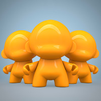 vinyl toy munny 3d model