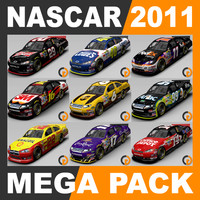 3d model nascar 2011 cars -