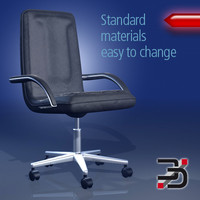 chair office 3d c4d