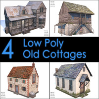 Old Cottage Collection, Low Poly, Textured