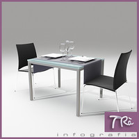 3d max café restaurant bar chair table