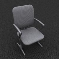 max single chair gray