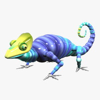 3d robotic chameleon model