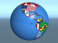 3d model of geopolitica earth globe country