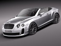 3d bentley continental supersports super sport