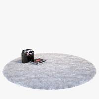 fluffy rug round
