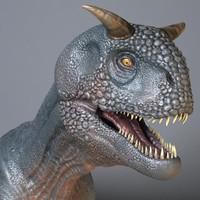 3d model carnotaurus dinosaur sastrei