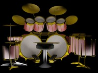 obj drum set
