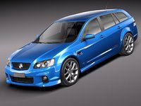3d holden ve ii commodore model