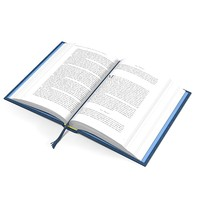 open book tome 3d model